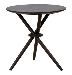 Stix Side Table Graphite & Black