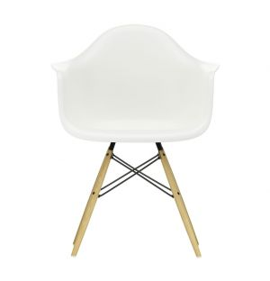 DAW Plastic Armchair Golden Maple Base