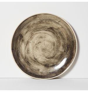 Organic Sand Dinner Plate Black 28cm