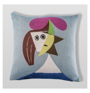 Picasso 'Femme Au Chapeau' Cushion Cover 45cm x 45cm