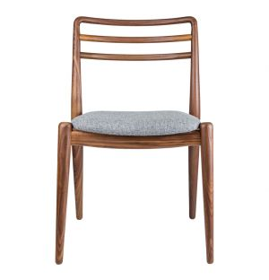 Tor Side Chair Walnut & Grey Wool