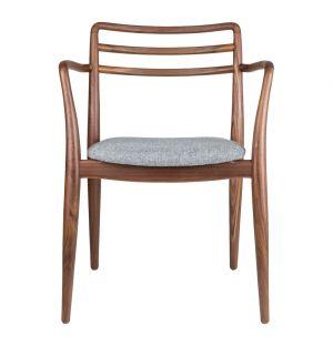 Tor Arm Chair Walnut & Grey Wool