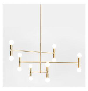 Dot Atomium Suspension Light Brass