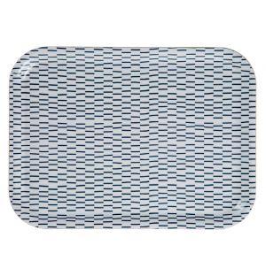 Broken Stripe Tray Blue Medium