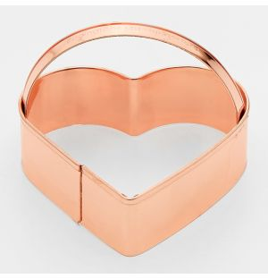 Heart Cookie Cutter Copper
