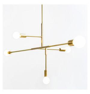 Cliff Pendant Lamp Brass