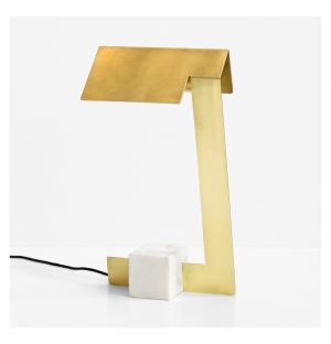 Clark Desk Lamp Brass With Marble Base
