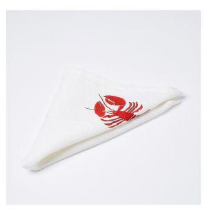 Lobster Print Linen Napkin