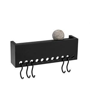 So-Hooked Wall Rack Black 30cm