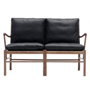OW149-2 Colonial Sofa Walnut & Leather