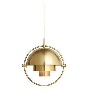 Multi-Lite Pendant Brass