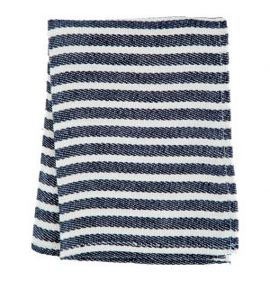 Linen Stripe Tea Towel Navy