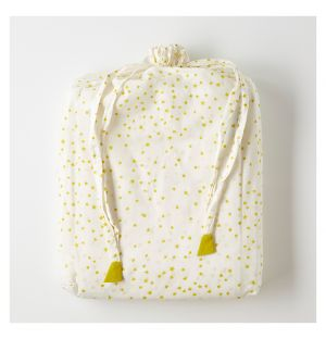 Children's Star Print Single Bed Linen Apple