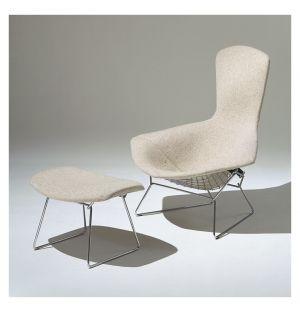 Bertoia Bird Armchair & Ottoman Capraia Upholstery