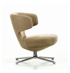 Petit Repos Armchair Tall Natural Leather & Aluminium