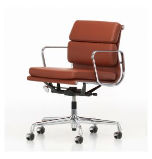 EA217 Soft Pad Office Chair Chrome Base Premium Leather
