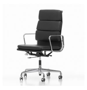 EA 219 Soft Pad Office Chair Chrome Base Leather