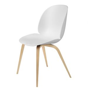 Beetle Dining Chair Un-Upholstered Oak Base