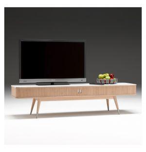 AK 2720 TV Stand Corian & Oak