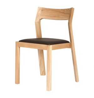 Profile Chair Oak & Brown Leather