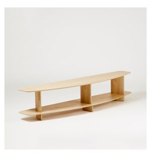 Wing 2-Layer Shelving Unit in Natural Ash 1.8m