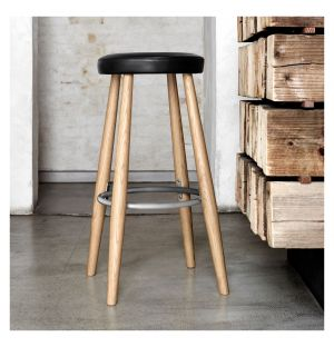 CH56 Stool Soaped Oak & Leather