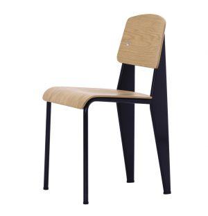 Standard Chair Black Base & Wood Shell