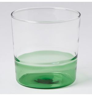 Light Water Tumbler Green & Clear