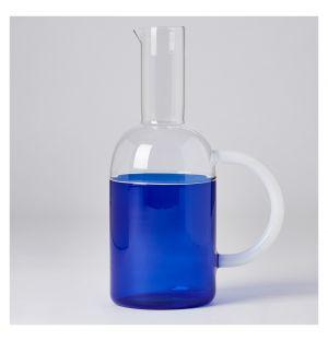 Tequila Sunrise Jug White & Blue