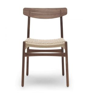 CH23 Side Chair Oiled Walnut Natural Seat