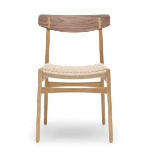 CH23 Side Chair Oiled Oak/Walnut Natural Seat