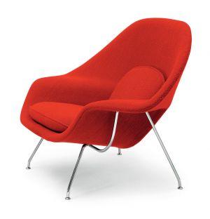 Womb Armchair Chrome & Cato Fabric