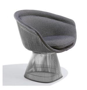 Platner Lounge Chair Polished Nickel & Hallingdal Fabric