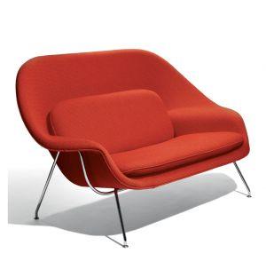 Womb Sofa Chrome & Cato Fabric