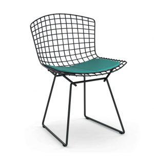 Bertoia Side Chair Black Base & Divina Fabric