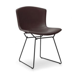 Bertoia Side Chair Black &  Cow Hide