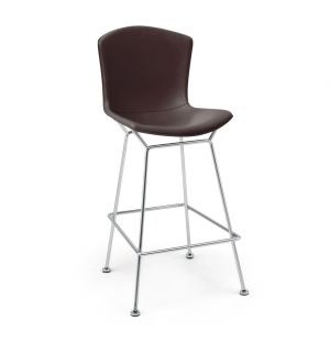 Bertoia Counter Stool Chrome & Cow Hide