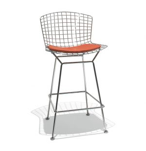 Bertoia Counter Stool Chrome & Cato Fabric