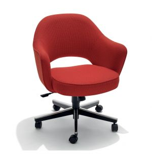 Saarinen Conference Armchair Swivel Base & Cato Fabric