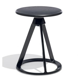 Piton Side Table Black & Ebonised Oak