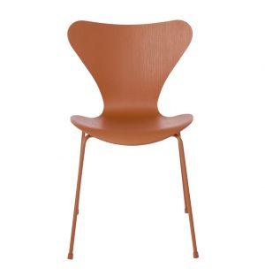 Series 7 3107 Chair Chevalier Orange & Powder Coated Base