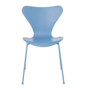 Series 7 3107 Chair Trieste Blue & Powder Coated Base