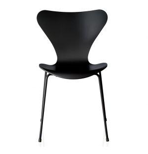 Series 7 3107 Chair Black Coloured Ash & Powder Coated Base