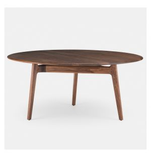 Solo Table Round Black Walnut Large