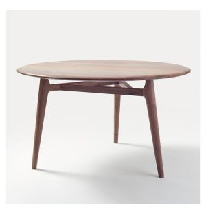 Solo Table Round Black Walnut Medium