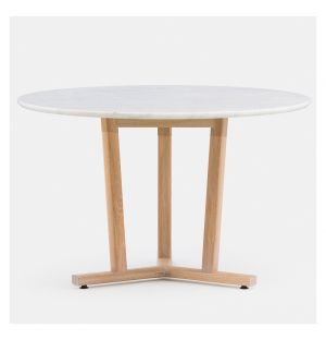 Shaker Dining Table Round White Oak