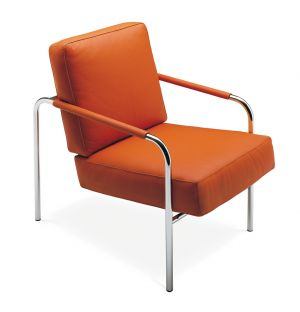 Susanna Armchair Dark Orange Leather