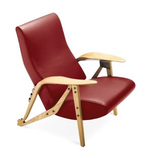 Gilda Armchair Oak Dyed Ash & Leather