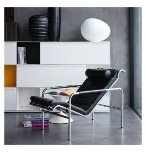 Genni Lounge Chair Chrome & Pelle Nappa Leather