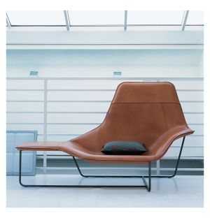 Lama Lounge Chair Leather & Graphite